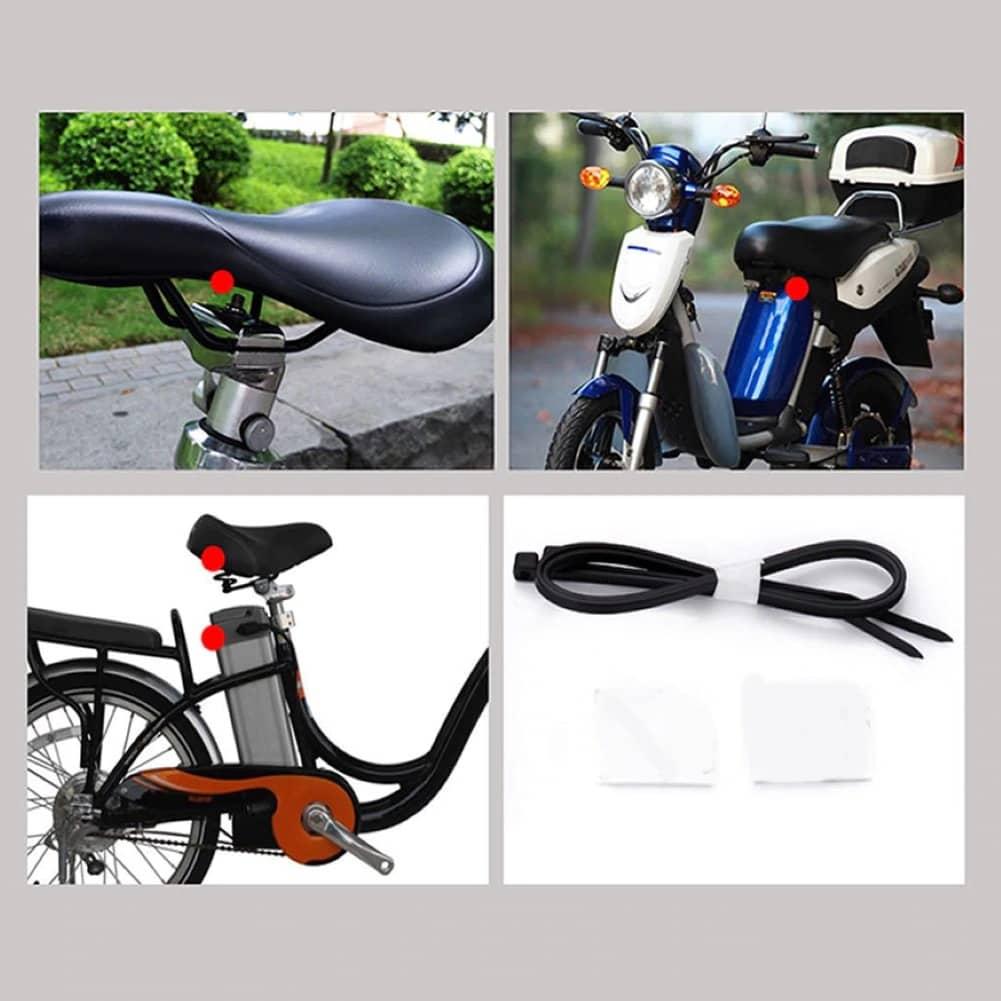 Alarma antifurt sirena vibratii cu telecomanda trotineta electrica sau bicicleta (3)