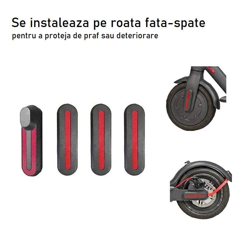 Set Capace Protectie reflectorizante roata fata-spate trotineta electrica Xiaomi M365 PRO (3)
